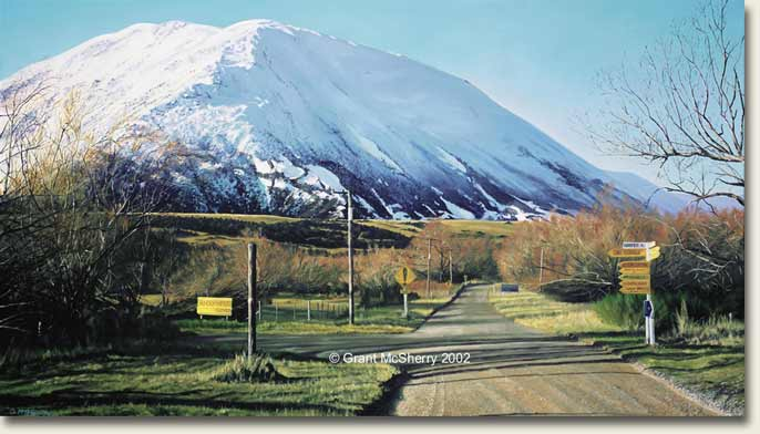 Red Hill, Central Canterbury painting by Grant McSherry