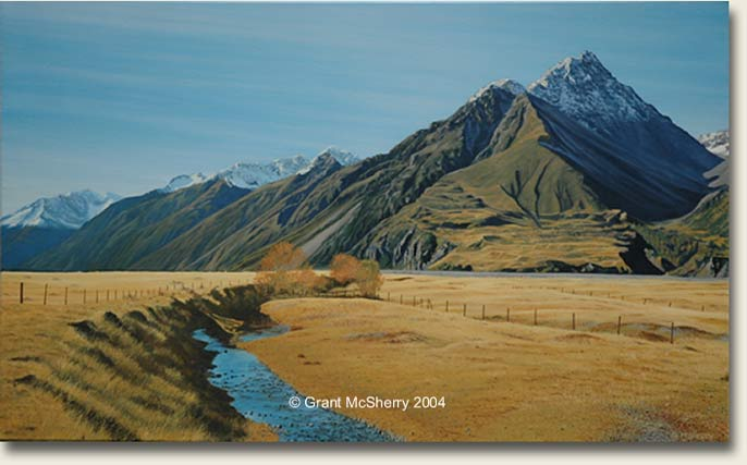 Mt Blackburn painting by Grant McSherry