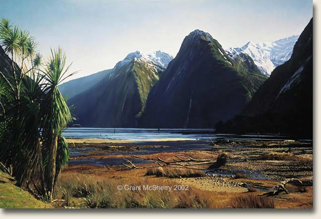 Milford Sound painting by Grant McSherry