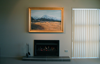 The original, 'In Our own Good time' by Grant McSherry is a large size oil painting, finished in a hand crafted, gold leaf frame.