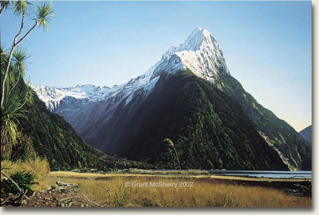 Mitre Peak, Milford Sound painting by Grant McSherry
