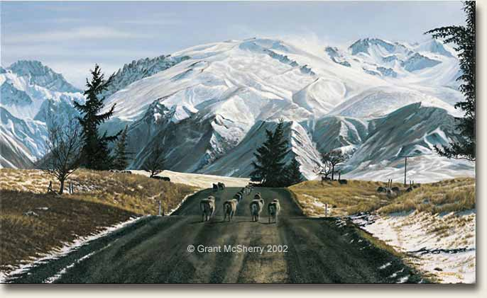 Mackenzie Country painting by Grant McSherry